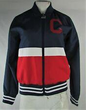 Cleveland Indians MLB Starter Women's Blue Full-Zip Bomber Jacket