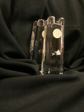 Pair (2) Lenox Collectible Candle Holder Rare Germany 100% Lead Crystal $158
