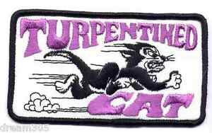 """Vintage ARCTIC CAT Patch Snowmobile Sled Ski TURPENTINED CAT  - Original 4"""" size"""