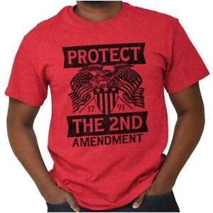 Protect The 2nd Amendment Defend Gun Rights Womens or Mens Crewneck T Shirt Tee