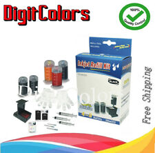 cartridge ink Refill bottle tool Kit box for HP901 901XL 818 123 KCMY combo