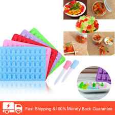 5 Pcs Silicone Chocolate Molds Candy Moulds with Droppers Molds Ice Candy Mold