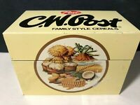 Vintage Tin Recipe Box Ohio Art - Post Cereal