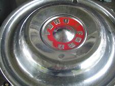 Vintage Ford 1955 1956 Fairlane Thunderbird T Bird Hubcaps Trim Ring Center Cap