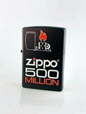 Zippo Feuerzeug DeAgostini - 500 Million - Schwarz - Neu-Benzin Sturmfeuerzeug