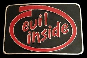 Evil Inside Metal Belt Buckle Cool Boucle De Ceinture
