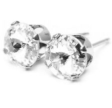 Stud earrings made with sparkling diamond white crystal from SWAROVSKI.