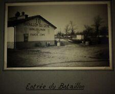 GUERRE MONDIALE 10 éme BATAILLON DU GÉNIE À LA VALBONNE (AIN) 1940-42 PHOTOS