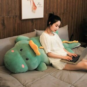 80cm/100cm/120cm Soft Kawaii Six Colors Dinosaur Plush Toy Cartoon Animal Dinosa