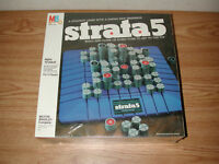 NEW VINTAGE 1984 MILTON BRADLEY STRATA 5 STRATEGY BOARD GAME 4407, SEALED