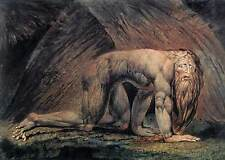 "William Blake ""Nebuchadnezzar"" Visionary Biblical Art 8x10 Real Canvas Print"