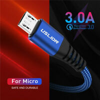 3A Micro USB Cable Braided Fast Charger Data Cable For Samsung S7 S6 Xiaomi LG
