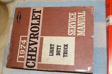 Chevrolet Light Duty Truck 1974 74 Service Manual Series 10-30 Original