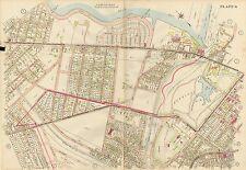 1914 PORTLAND, MAINE, BAYSIDE, OAKDALE, DEERINGS OAKS, COPY PLAT ATLAS MAP 22x32