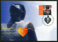 1998 Heart Health Rose Maxi Cards Prepaid Postcard Maxicards Stamps