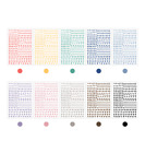 Korean Letter Hangul Colorful Calligraphy Sticker Pack For DIY Diary Laptop Deco