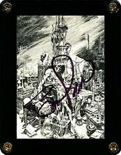 MASTER OF MACABRE FRANKENSTEIN CARD F-7 SIGNED BY ARTIST BERNIE WRIGHTSON