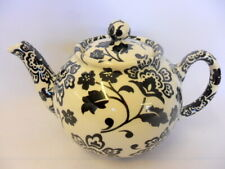 Black and white Florentina design 2 cup teapot by Heron Cross Pottery