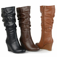 Brinley Co. Womens Regular Sized Slouch Knee-High Dress Boot