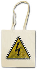 Caution High Voltage sign hipster Bag-sustancia bolso de tela bolsa-warning AC/DC