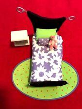 AMERICAN GIRL DOLL AG MINIS ILLUMA PURPLE BEDROOM BED TEDDY BEAR NIGHT STAND ++