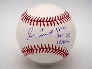 GREG MADDUX 4X CY, 355 W'S, HOF 14 STAT SIGNED MLB AUTHENTIC BASEBALL AUTOGRAPH.