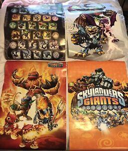 4 Skylanders Posters Spyros Adventure Giants Lot