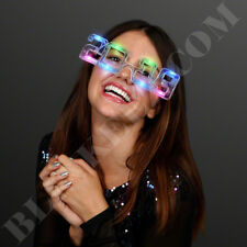 LED Multi Color Light-Up Sunglasses 2019 New Years Party Flashing Glasses