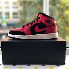 Nike Air Jordan 1 Mid GS 'Bred' (Black / Red) - Size 4 UK / 4.5 Y