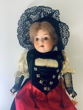Antique Armand Marseille Bisque/Composition Jointed Mohair Wig-Open Eyes & Mouth
