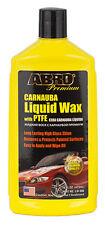 ABRO Premium Carnauba Car Liquid Wax PTFE High Gloss Protective Detailing 473ml