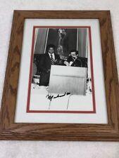 Muhammad Ali Vintage Signed Black White 8x10 Wire Photo Framed JSA LOA