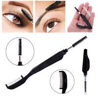 Metal Brush Eyelash Eye Eyebrow Dual-Comb Foldable Stainless Steel Gadgets QP
