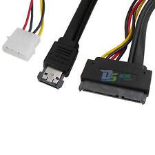 0.5m Serial ATA SATA 22Pin (17+5) to Power eSATA HDD Data Cable with 4 Pin Molex