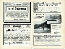 Tegernsee Bad Kreuth 1904 ORIG. viaje-capítulo St. Quirin Kaltenbrunn Scharling