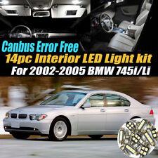 14Pc CANbus Error Free Interior LED White Light Kit for 2002-2005 BMW 745i Li