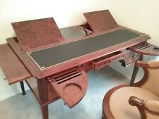 French Writing Desk With Swivel Suede Chair, No Scratches or Dings!