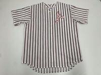 Rare VTG Majestic Men's Sz XL Atlanta Braves Baseball Jersey Stitched Pinstripe