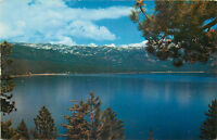Old Chrome Postcard AH B842 Lake Tahoe Nevada Crystal Bay Mt. Rose HWY Reno