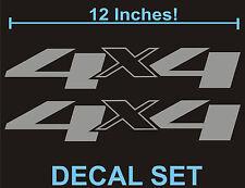 4x4 Truck Bed Decals, Silver (Set) for Chevrolet Silverado