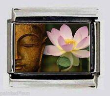 HOLY LOTUS BUDDHA Buddhist Religious 9mm photo Italian charms for bracelets