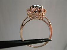 2.72ctw ROSE GOLD BLACK DIAMOND RING,TOURMALINE *APPRAISAL*FREE DIAMOND TESTER