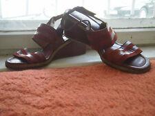 True VINTAGE sandalo da donna 60er ZEPPA/Wedge 70er ROSSI scarpa donna estate