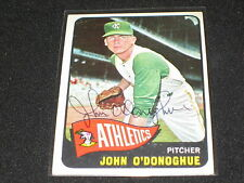 JOHN O'DONOGHUE SIGNED AUTOGRAPHED 1965 TOPPS CARD A'S