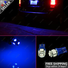 2x Ultra Blue License Plate Tag 5-SMD LED Light Bulb T10 Wedge 192 168 W5W 2825