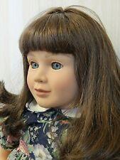 "MY TWINN 23"" Brunette Vinyl Doll in Original Romper, Replaced Blue Eyes"