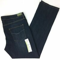 "NEW Eddie Bauer Women's Jeans Straight Leg Dark Wash Jeans size 14 32"" SU5098"