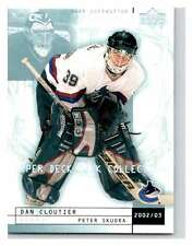 (HCW) 2002-03 UD Mask Collection #85 Dan Cloutier/Peter Skudra Canucks