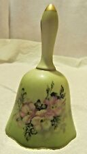 vintage hand painted nippon bell with floral design