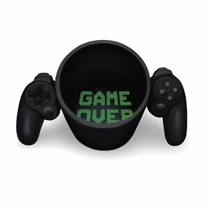 Game Over Mug Ceramic Video Game Controller Tea and Coffee Cup Gamer Gift
